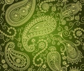 ornate paisley pattern  Seamless vector 04