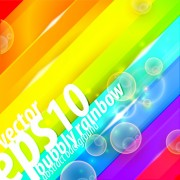 Link toShiny with rainbow background vector graphic 01