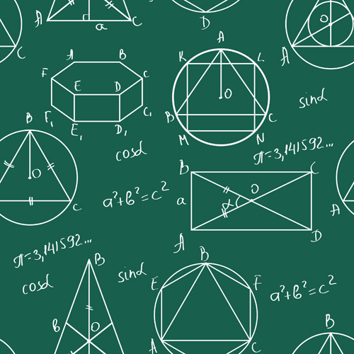 set of math scribble design vector 01 – over millions vectors, Modern powerpoint