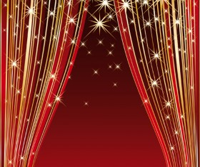 Red Stage Curtain design vector graphic 01