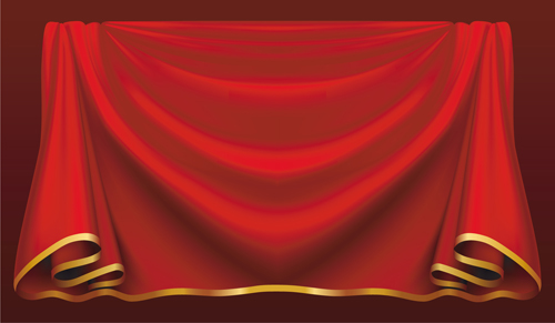 Red stage curtain design vector graphic 02 vector other free