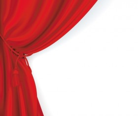 Red Stage Curtain design vector graphic 03