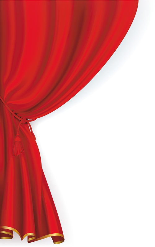 Red stage curtain design vector graphic 03 vector other free