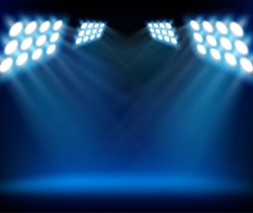 Set of Stage with spotlight vector background 01