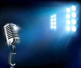 Set of Stage with spotlight vector background 02