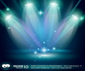 Set of Stage with spotlight vector background 03