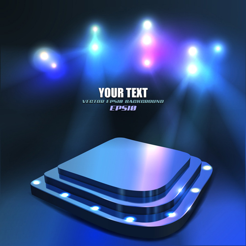 set of stage with spotlight vector background 04 – over millions, Modern powerpoint