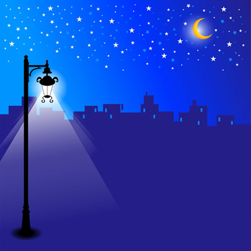 Street Lamp Background Shiny Street Lamps Background