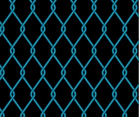 Fence made of Metal wire vector background graphic 04