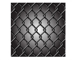 Fence made of Metal wire vector background graphic 05