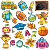 Elements of School design icon vector 01