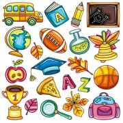 Link toElements of school design icon vector 01