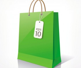 Color Paper Shopping bags design vector 02