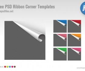 7 kind Curled Paper corner psd templates