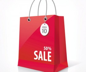 Color Paper Shopping bags design vector 03