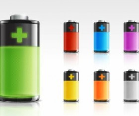 Psd Color Battery icons