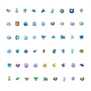 Link toDifferent twitter icons set