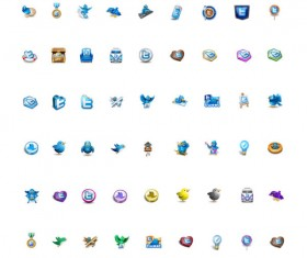 Different twitter icons set