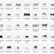 Link toDelicate funny font set 01