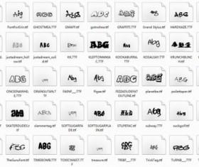 Delicate funny font set 01
