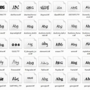 Link toDelicate funny font set 03