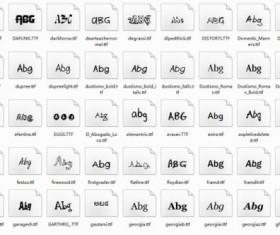 Delicate funny font set 03