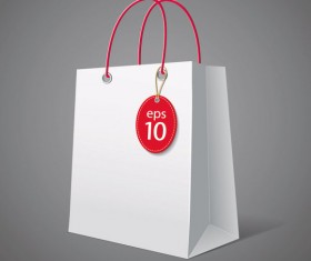 Color Paper Shopping bags design vector 04