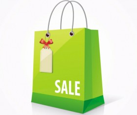 Color Paper Shopping bags design vector 05