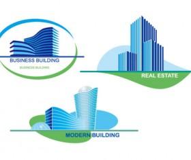 Real estate Building design elements vector 01