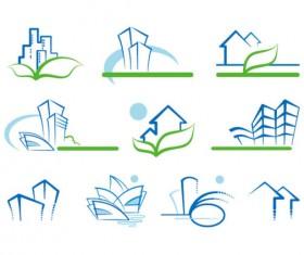 Real estate Building design elements vector 02
