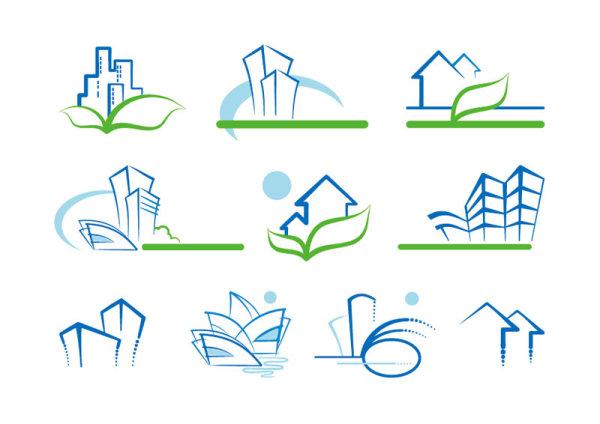 file real estate building design elements vector 02 download name real ...