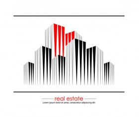 Real estate Building design elements vector 05
