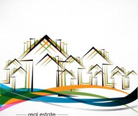Real estate Building design elements vector 06