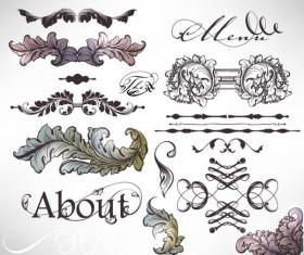 Retro Decorative Ornaments Frames and Borders vector 09