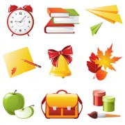 Link toElements of school design icon vector 04