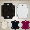 Different leather lables and tags mix vector 05