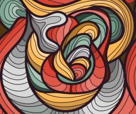 Set of Snake texture pattern vector 08