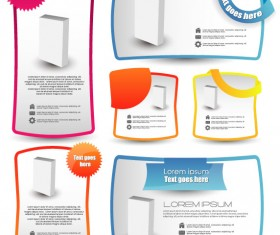 commonly color Label stickers vector set 03
