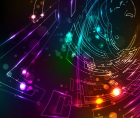Abstract dynamic Light lines vector backgrounds vector 01