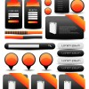 Label stickers and web elements vector set
