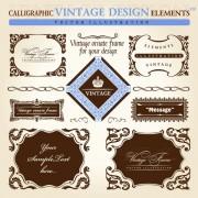 Link toSet of vintage ornate frames vector art 01