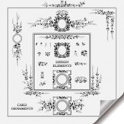 Link toRetro object decorative ornaments frames vector 01