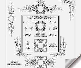 Retro Object Decorative Ornaments frames vector 01
