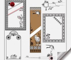 Retro Object Decorative Ornaments frames vector 02