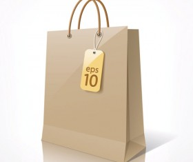 Color Paper Shopping bags design vector 01