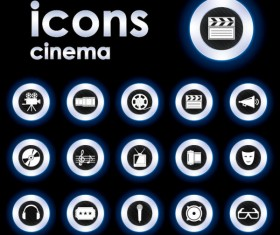 Bright Round icons design vector set 01