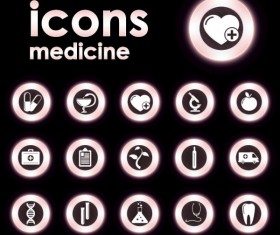 Bright Round icons design vector set 02