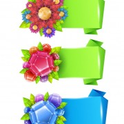Link toFlower with origami banner vector