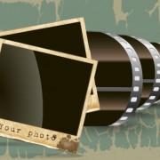 Vintage film scrap banckground vector 01