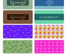 Different Decorative pattern mix vector